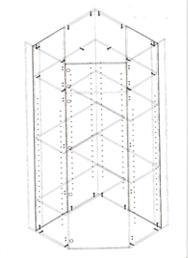 corner diy floor unit in melamine chipboard