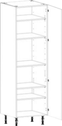 tall diy grocery kitchen unit with 5 adjustable shelves